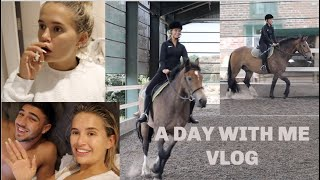 'A DAY WITH ME' VLOG | HORSE RIDING, HOUSEWORK, RELATIONSHIP LIFE | MOLLYMAE
