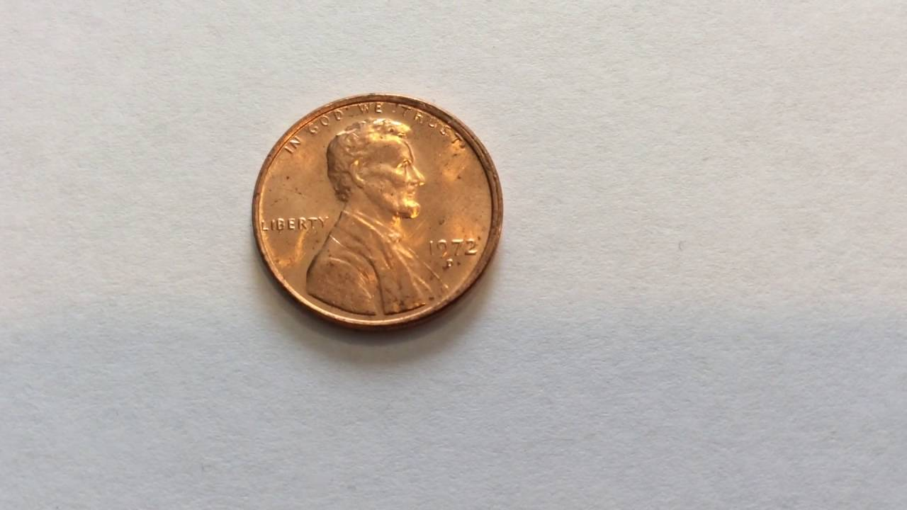 1972 D Lincoln Cent Die Defect