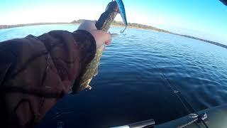 Две поклевки Две Щуки Рыбалка на озере