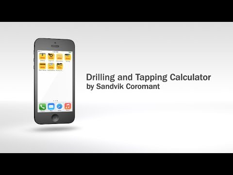 Sandvik Coromant Drilling & Tapping Calculator