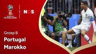 WK voetbal 2018: Samenvatting Portugal - Marokko (1-0)