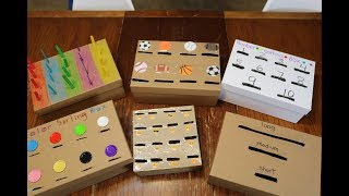 Preschool Task Boxes for Early Learning and Basic Skills Practice