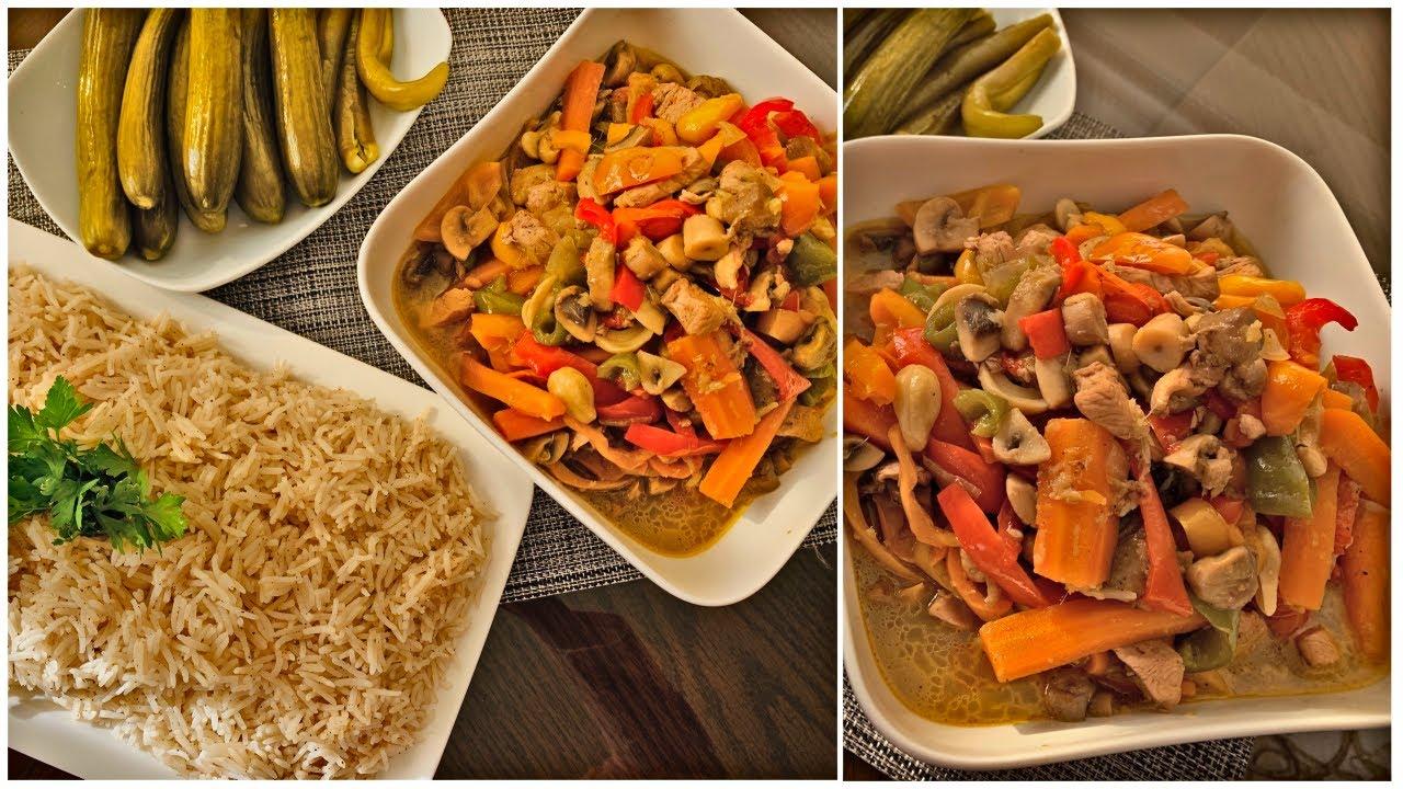 دجاج بالكاجو والخضار 🍗🍛🥢    Chinese Chicken & Veggies ...