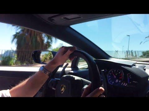 Lamborghini Huracan LP610-4 Fast Drive in Barcelona | Tunnels Downshifts Loud Revs