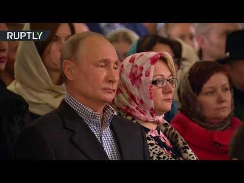الرئيس بوتين يحضر قداس عيد ميلاد المسيح في مدينته الأم سان بطرسبورغ