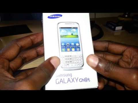 Samsung Galaxy Chat B5330 Smartphone Unboxing And Quick Impression.