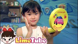 엄마처럼 화장하고 싶어요! 꼬마버스 타요의 서프라이즈 선물 LimeTube toy review