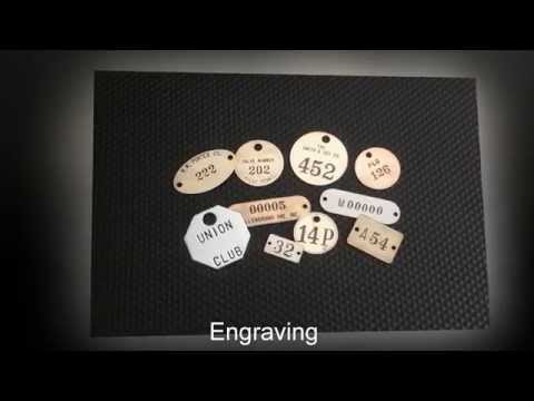 Custom Metal Identification Tags Labels Name Plates and More by Metal Marker Mfg