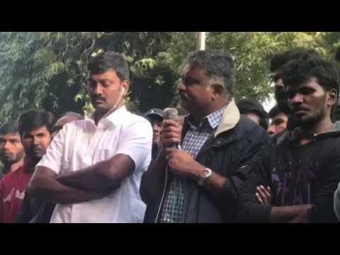 Mr. Karthikeya Sivasenapathy's speech at Jantar Mantar