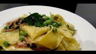 Ricetta Veloce Pasta Piselli E Pancetta,quick Recipe Pasta Peas And Bacon