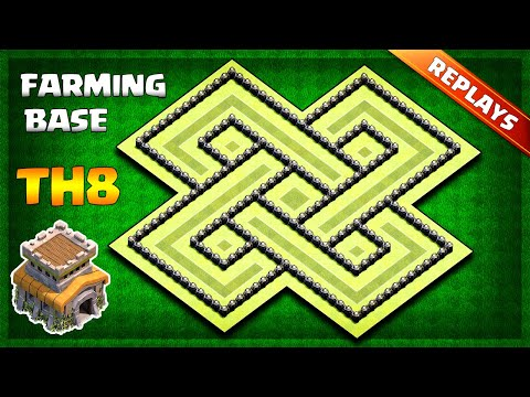 INSANE Town Hall 8 (TH8) Farming/Trophy Base Layout 2019 - With Replays & Copy Link | Clash Of Clans