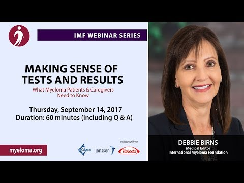 Living Well With Myeloma: Making Sense of Tests and Results