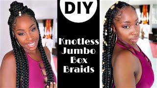 DIY ★ Knotless jumbo box braids