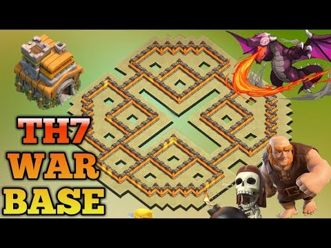 Best Th7 War Base 2018Anti Dragon Anti Hog Anti 3 Star Anti 2 Star With 3 Air Defense