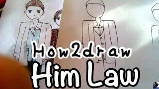 "How to draw him law in ""divas in distress"" (very quick draw)"