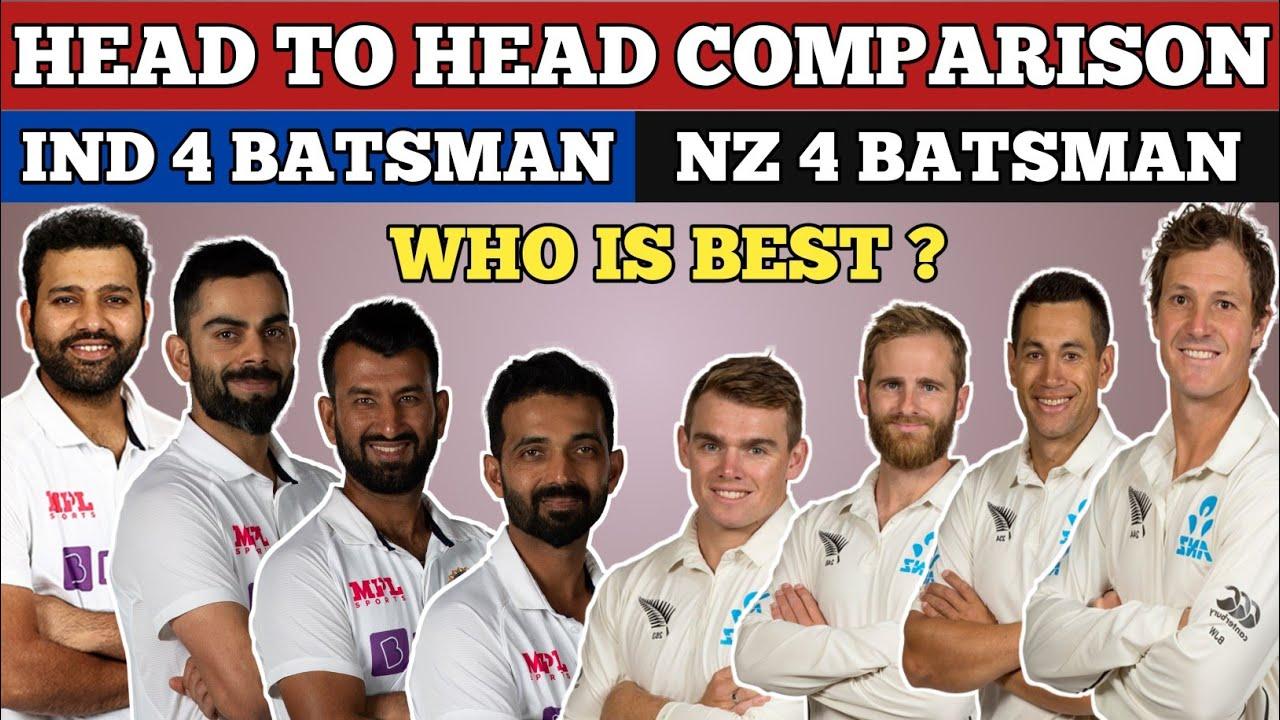 Indian Batsman Vs New Zealand Batsman Comparison | Ind vs Nz Final |India Vs New Zealand Final Match
