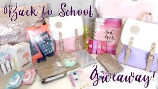 BACK TO SCHOOL GIVEAWAY 2017