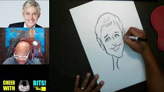 How To Draw Caricature of Ellen