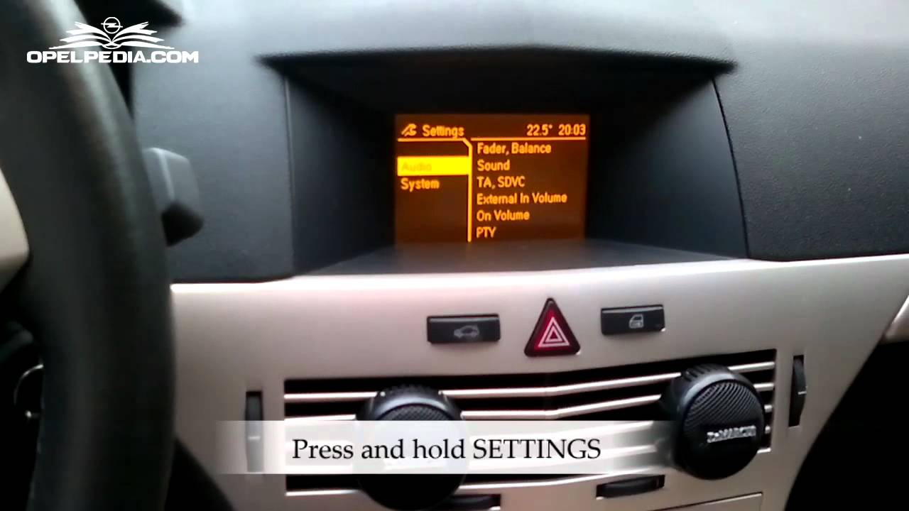 Opel Astra H Secret Menu Youtube Vauxhall Fuse Box 2011