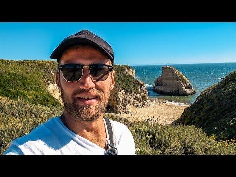 Тихоокеанский хайвей в Калифорнии. Едем в Лос-Анджелес. Санта-Круз
