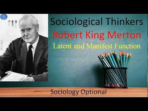 Robert K Merton Latent and Manifest Function Sociology Optional UPSC CSE