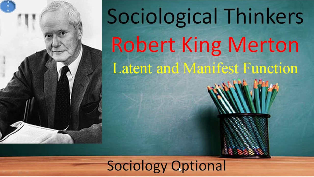 manifest and latent functions sociology
