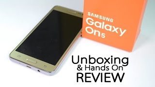 Samsung GALAXY ON5 Unboxing & Hands on Review -Best Budget Phone?
