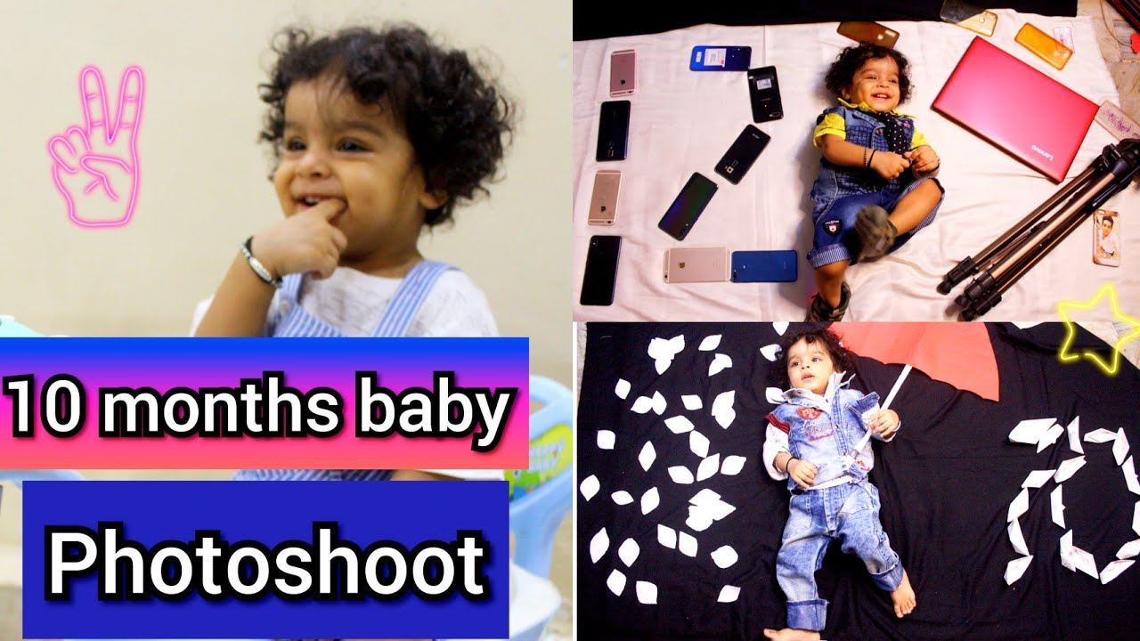 10 MONTHS BABY BOY PHOTOSHOOT |How to create different types of baground|