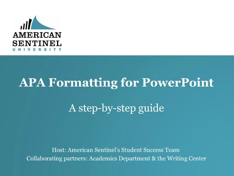 APA Formatting for PowerPoint YouTube