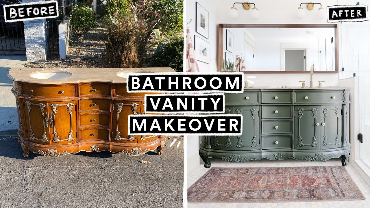 DIY BATHROOM VANITY MAKEOVER - From Start to Finish! (I found it on the street)