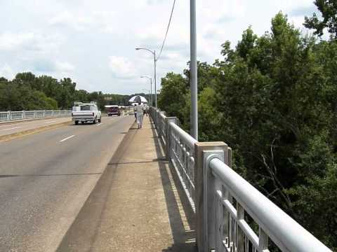 Walking Across the Edmund Pettus Bridge in Selma, AL July, 2013