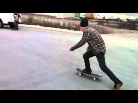 Skateboarding Box and rail