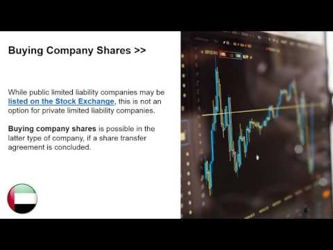 Buying Shares in a Company in Dubai