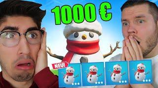 wer mit Schneemann gewinnt, bekommt 1000 Euro...