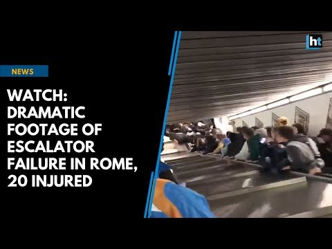 Watch: Dramatic footage of escalator failure in Rome, 20 injured