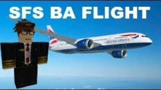 Britsih Airways 787 Flight! - SFS Roblox