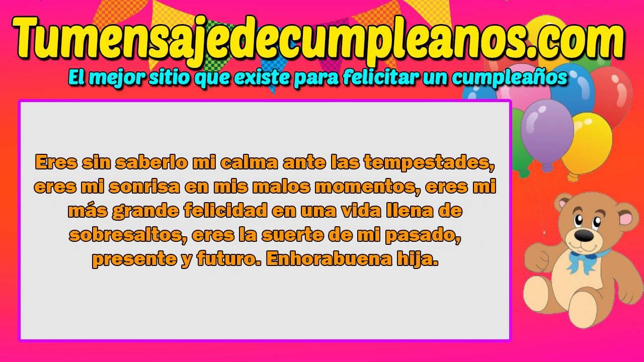 Saludos de cumpleaños para una hija MUY ESPECIALES y ENCANTADORES YouTube