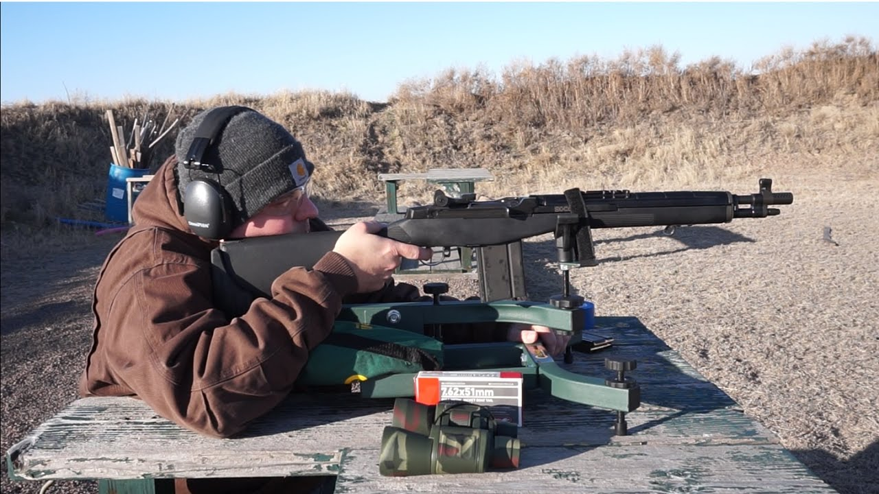 Springfield Armory M1A SOCOM 16 Accuracy Test  Caldwell Lead Sled at 100  Yards!