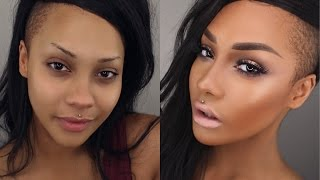 START TO FINISH HIGHLIGHT CONTOUR + FRESH PLUM HOMECOMING MAKEUP | SONJDRADELUXE