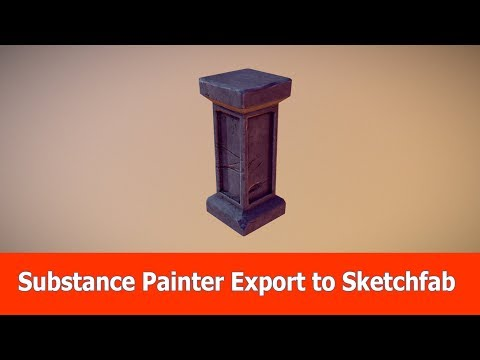 Substance Painter Export to Sketchfab