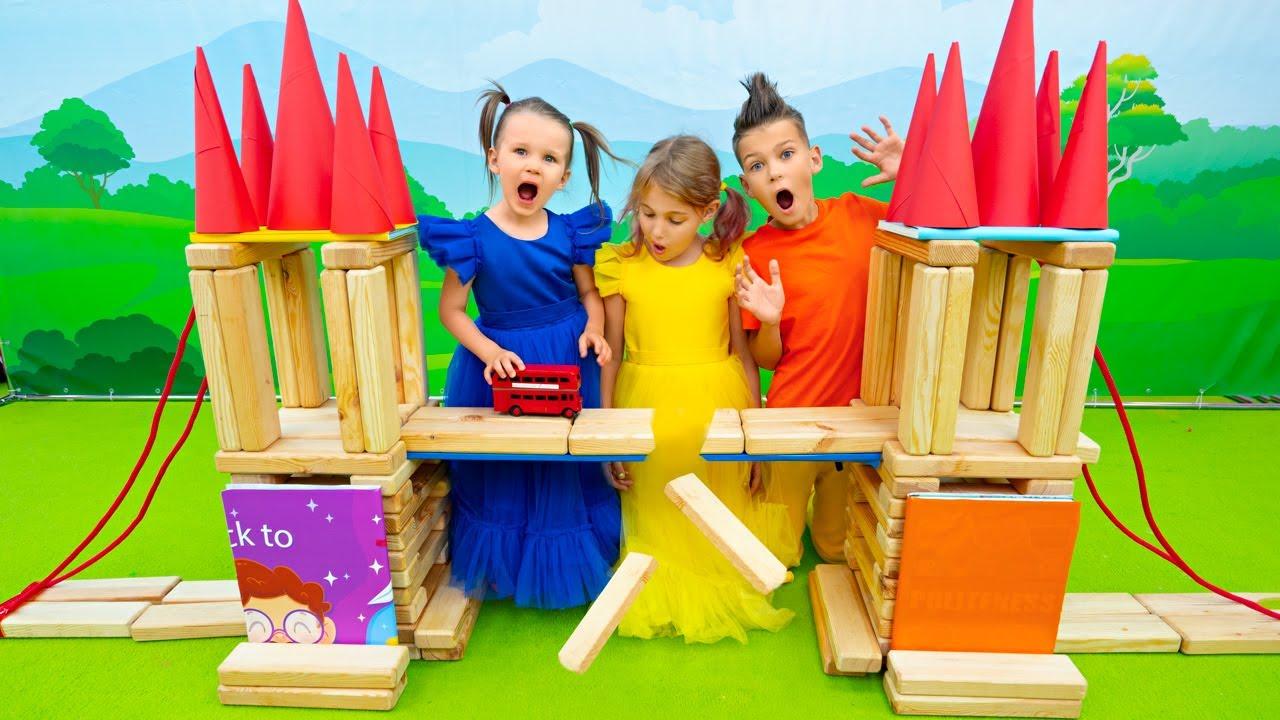 Five Kids Building a London bridge + more Children's Songs and Videos