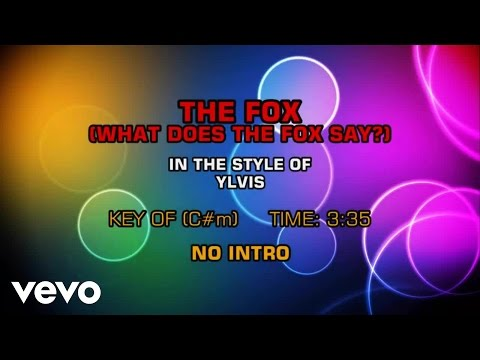 Ylvis - The Fox (What Does The Fox Say?) (Karaoke)