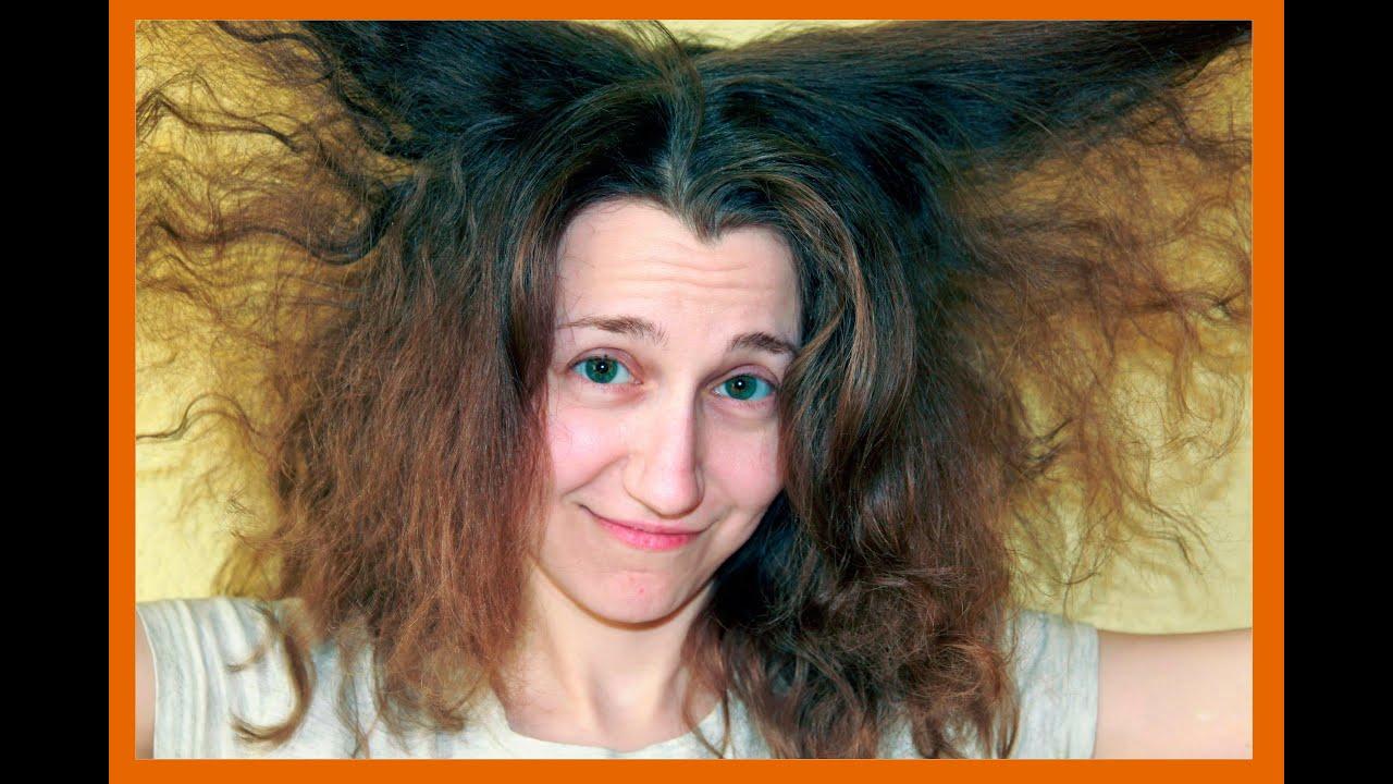 Уход за пушистыми кудрявыми волосами
