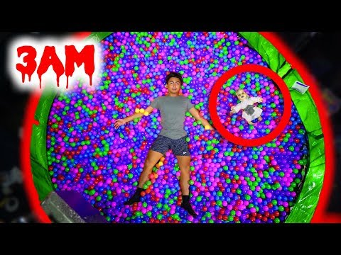 Thumbnail: DO NOT JUMP ON THE TRAMPOLINE BALL PIT AT 3AM! (Ghost)