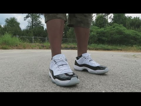 MJ MONDAY FLASHBACK REVIEW AND ON FEET!!! JORDAN 11 LOW 'CONCORD'