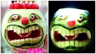 How To Make Joker Watermelon For Halloween