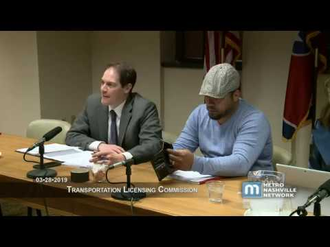 03/28/19 Transportation Licensing Commission
