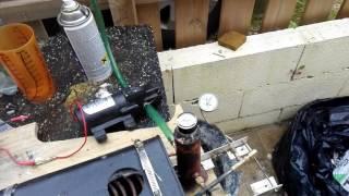 essais flash steam avec tuyere col de 1.5mm