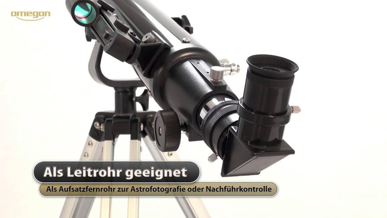 Omegon linsen teleskop ac 70 700 az 2 youtube