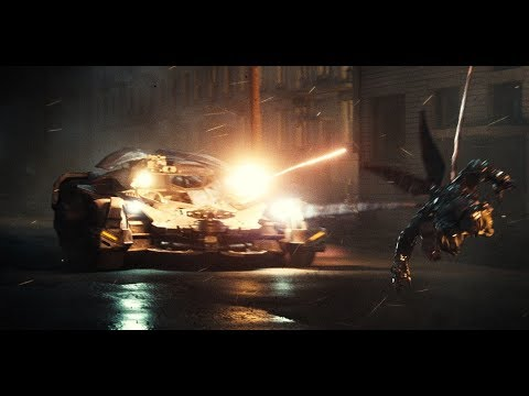 Batman in Batmobile vs Parademons Scene - Justice League